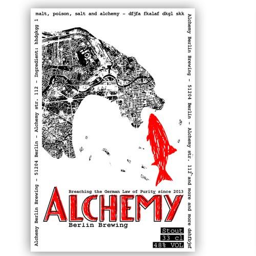 packaging or label design für Alchemy Berlin Brewing