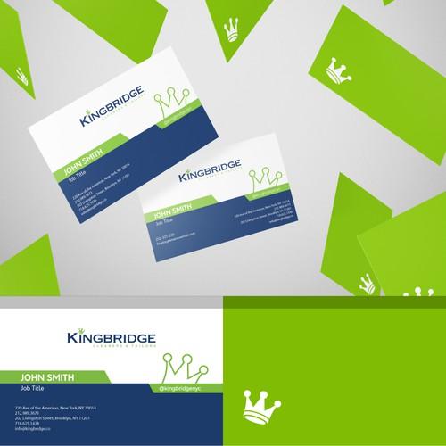 Minimal Business Card Design for KingBridge