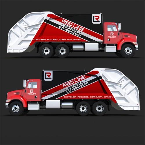 Red Line Disposal Trucks
