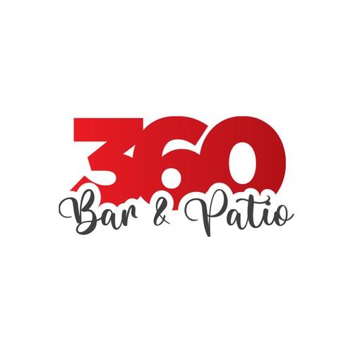 360 Bar Patio logo design