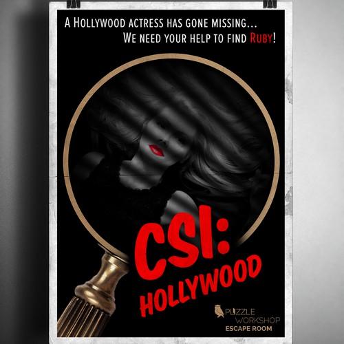 Film-noir style poster