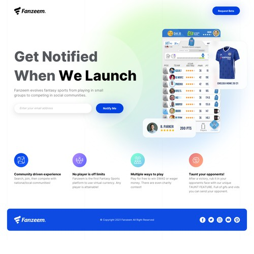Fanzeem App - Coming Soon Page
