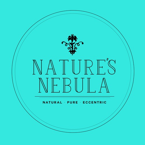 Bright concept for natural beauty products