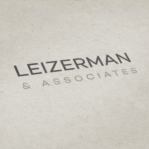 simple and solid wordmark for a law firm