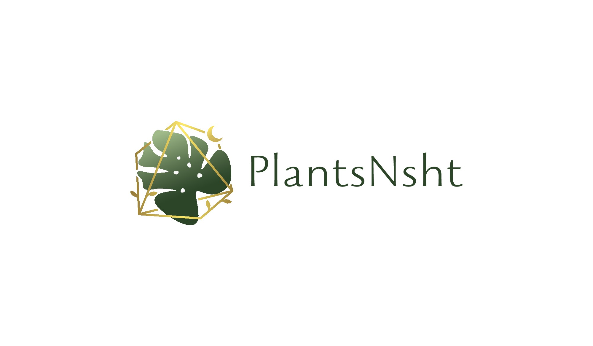 Logo for an online plant accessory Etsy shop and website.
