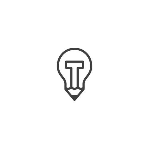 'T' Lightbulb / Pencil for Creative Agency