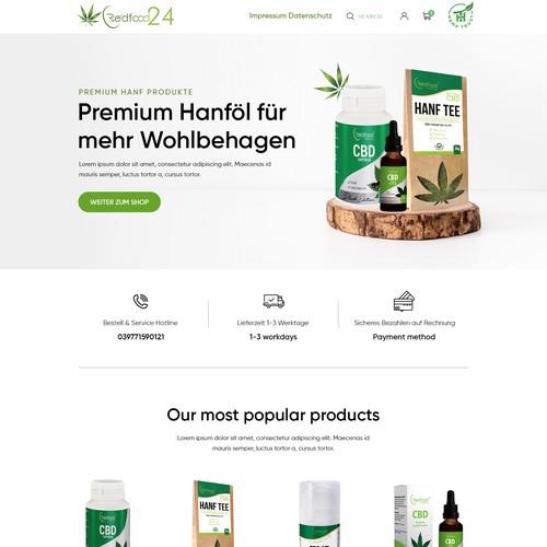 Beautiful CBD Shopify website