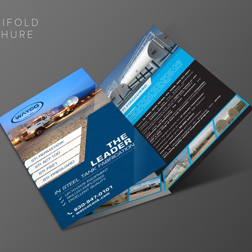 Trifold Brochure Design for Watco Tanks