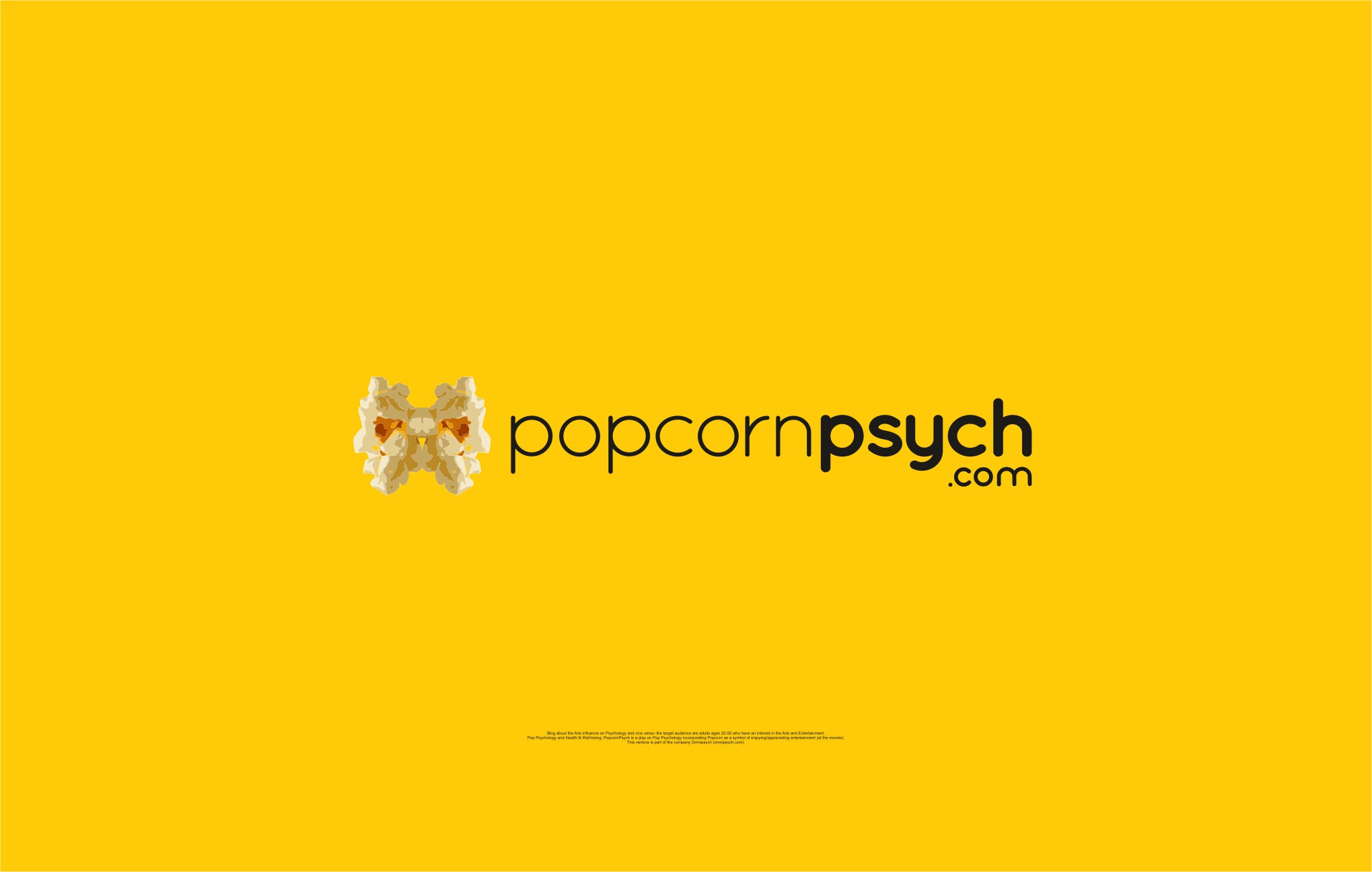 Create a clean design featuring popcorn for the blog PopcornPsych