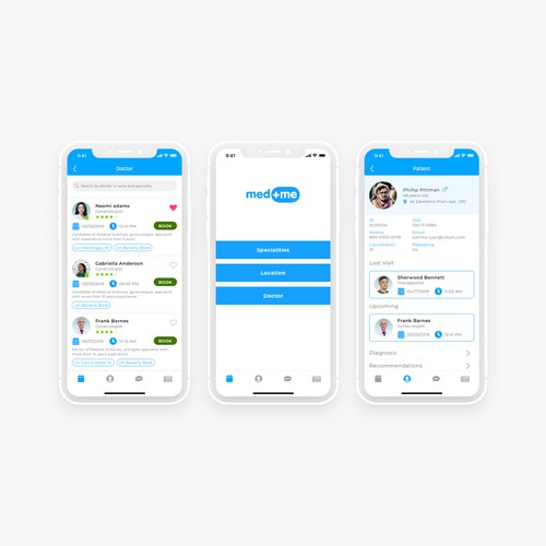 design concept for medical app