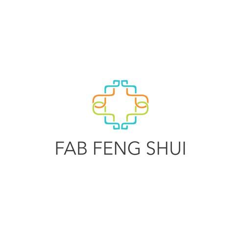 Create a happy, crisp, modern logo for Fab Feng Shui