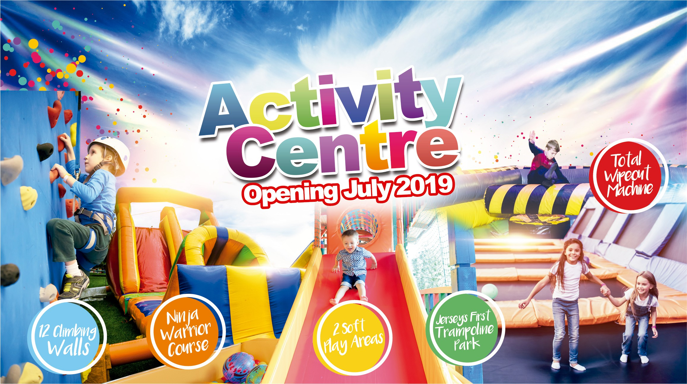 'Activity Centre' - Branding/typography & advertising signage