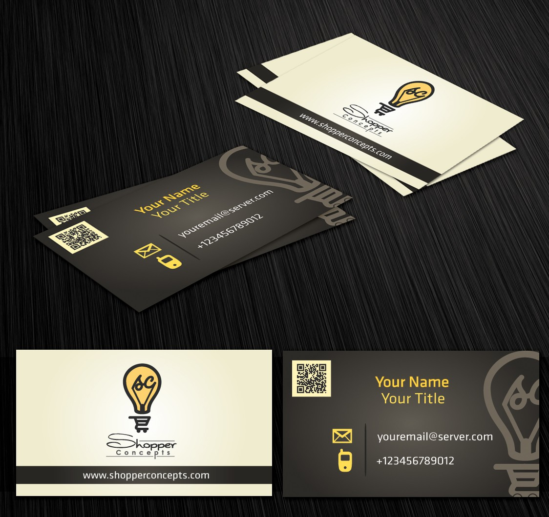 Create the next logo and business card for Shopper Concepts