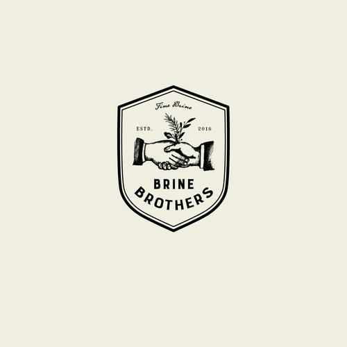 Design a unique brand logo for premium pickle brine drink for Brine Brothers