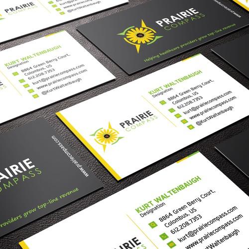 Create a cool, clean logo design for Prairie Compass !