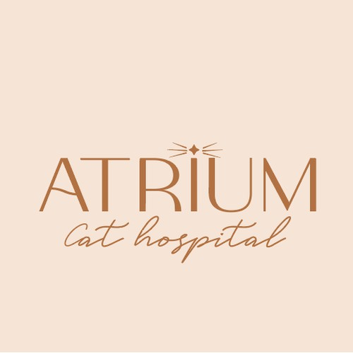 Minimal Cat Only Veterinarian Clinic Logo