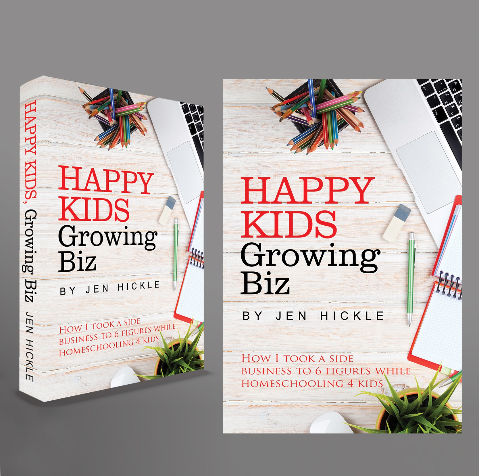 Create an inspiring cover for mom business owners!