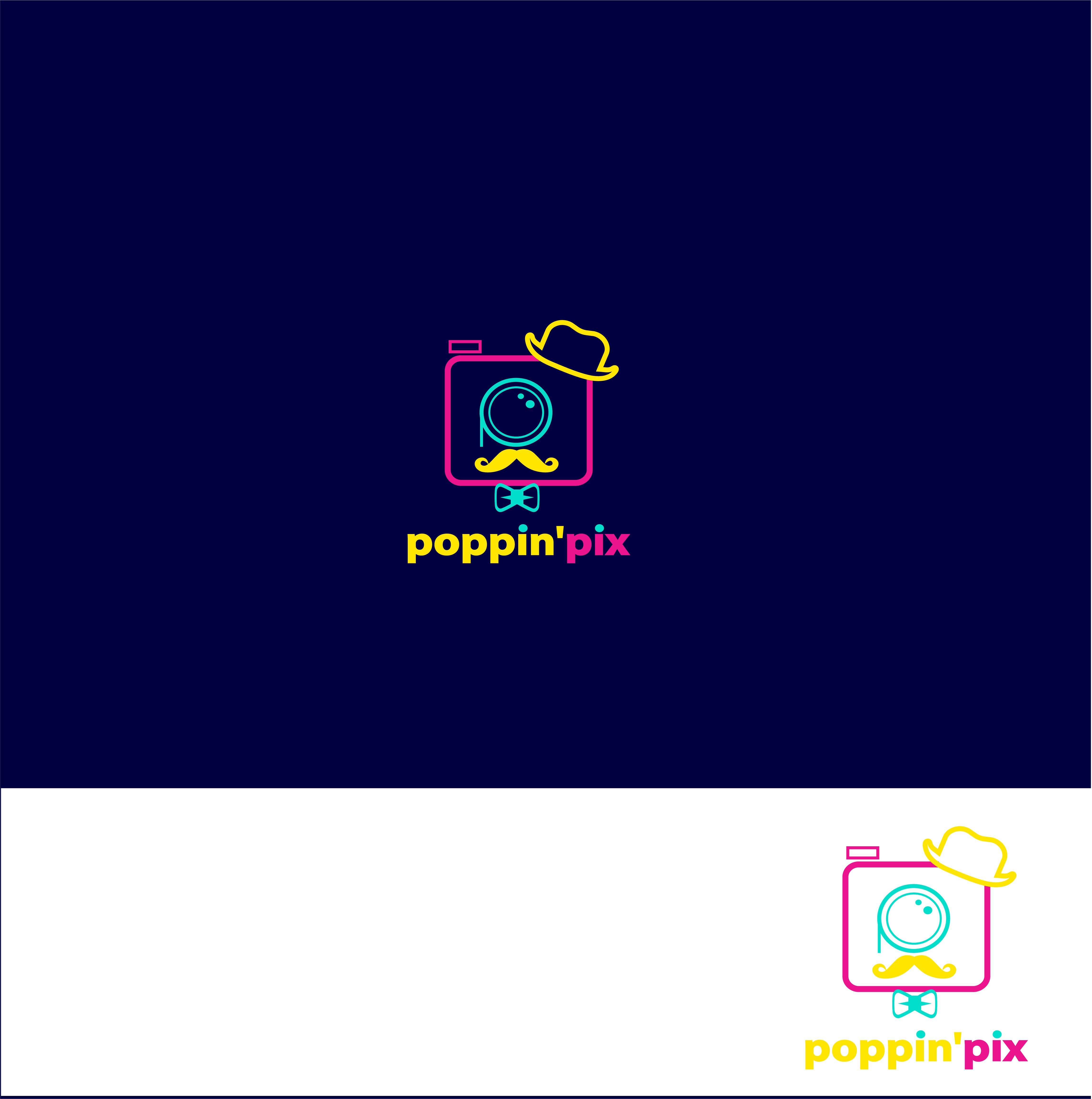 Poppin' Logo for hip modern photo booth
