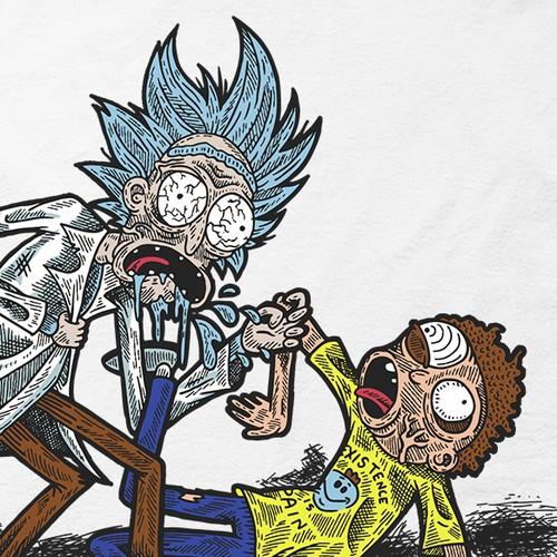 Creepy Rick & Morty