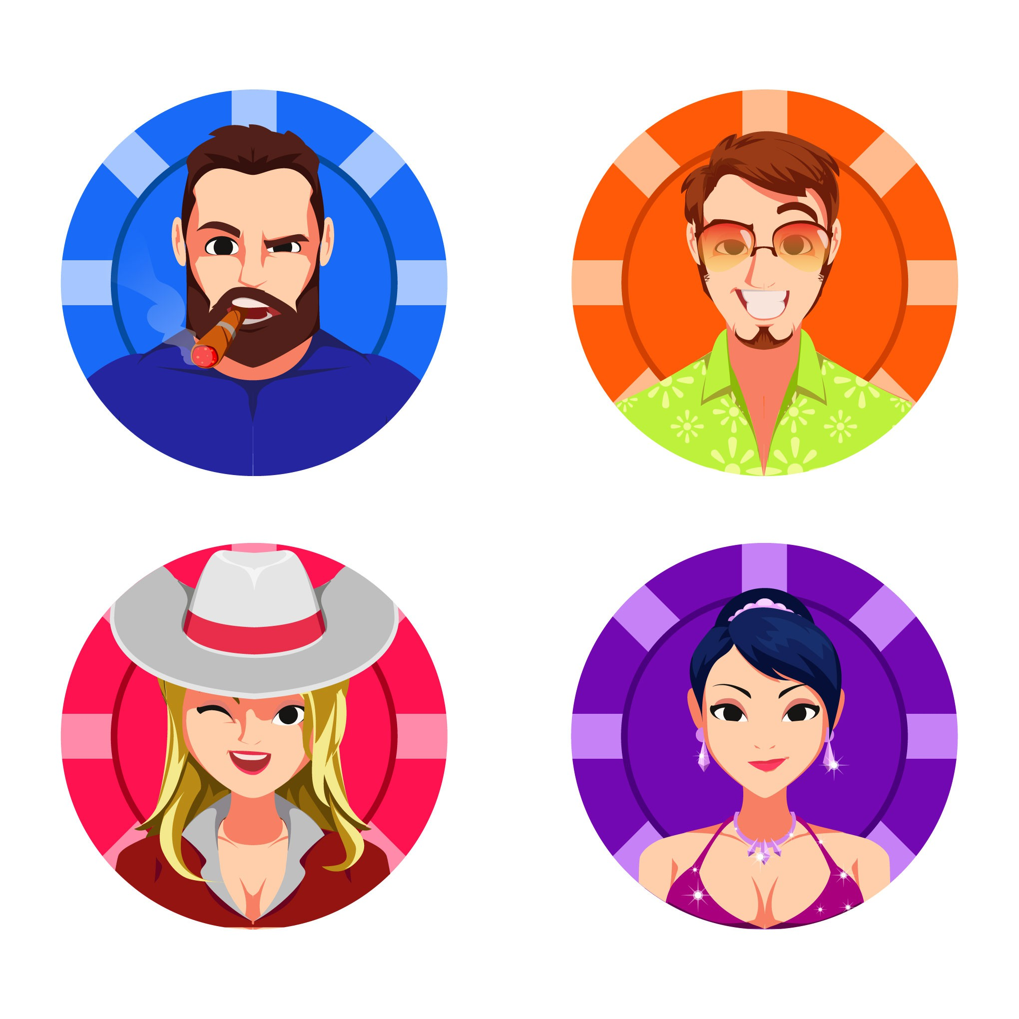 4 Characters for my Poker Applications