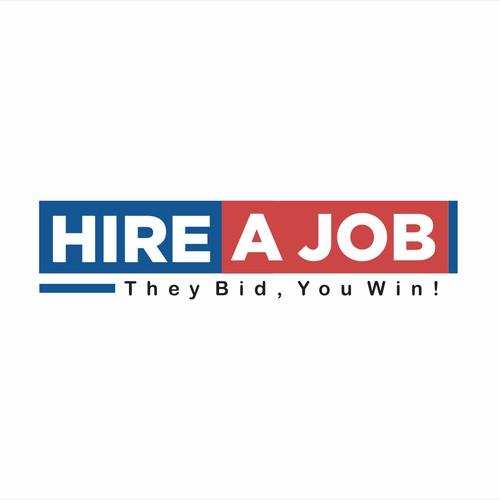 hire a job logo