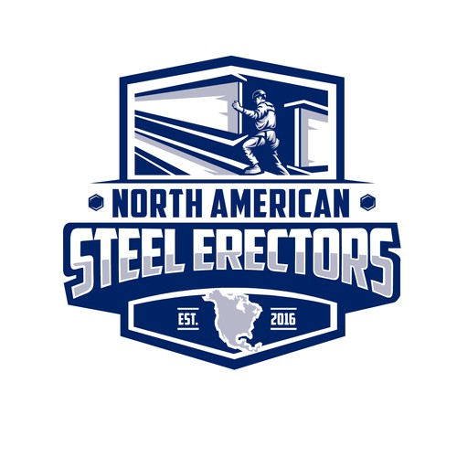 Bold style of North American Steel Erectors logo concept