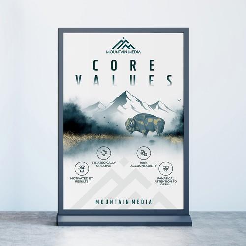 MM Core Values Poster design