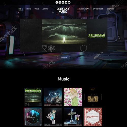 Website concept for Runstar Beats