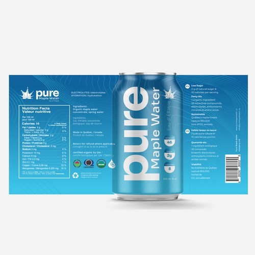 Packaging Design for Pure Maple Water
