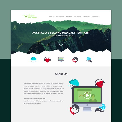 Simple and colorful design for Vibe group