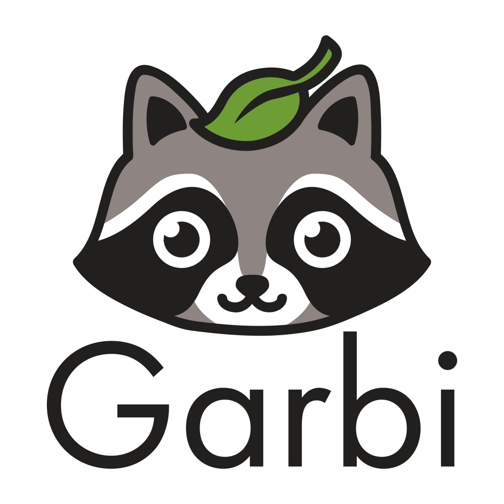 Design a nice/smart RACCOON logo for a Smart Trash Can
