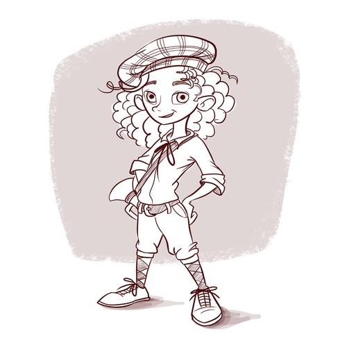 Character design - scottish boy