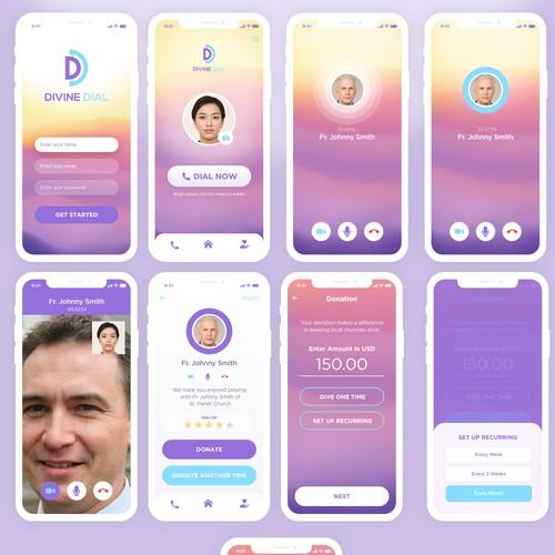 Concept app for Divine Dial