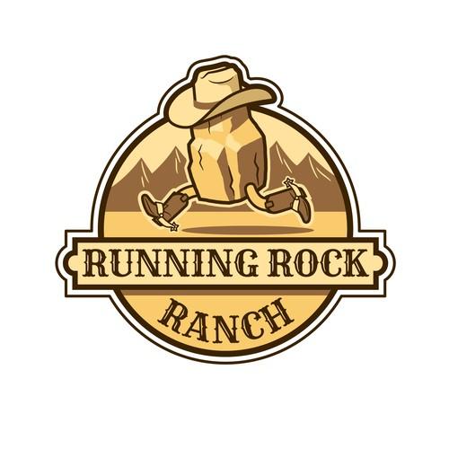 Running rock logo