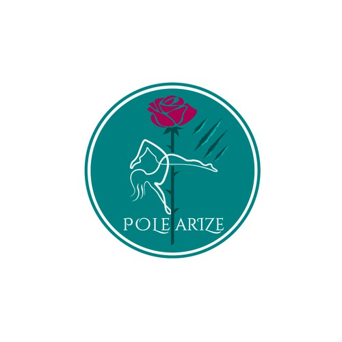 logo for Pole dance studio with abstract beauty & beast theme