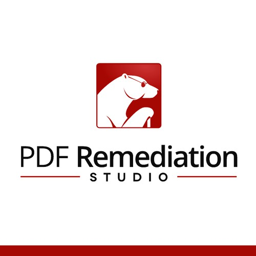 Unique Mascot Logo for PDF Remediation Studio