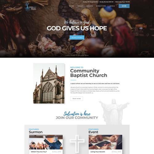 Website Design concept for Community Baptist Church