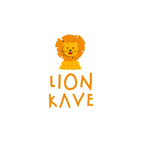 Lion Logo Mascot for child care