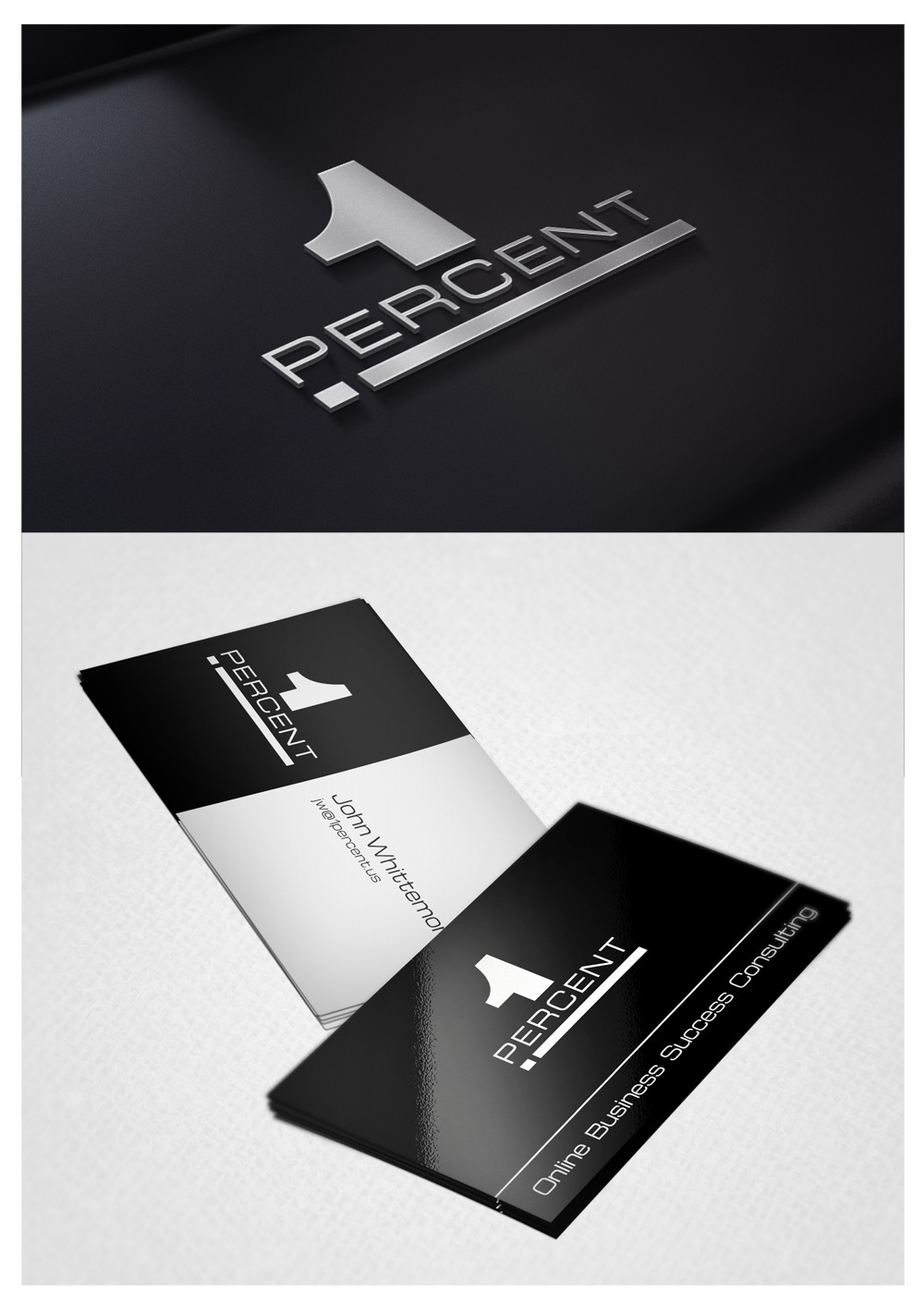 Help 1 Percent with a new logo and business card