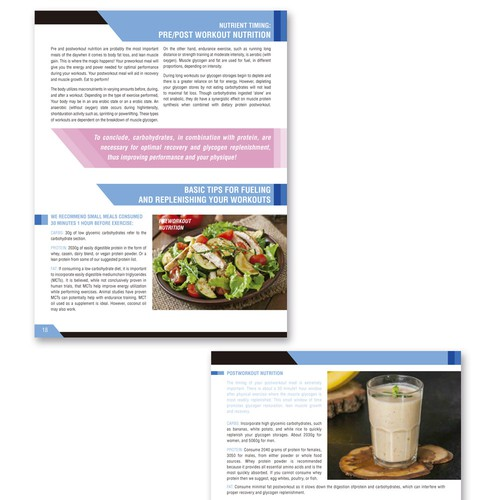 Redesign Our Current Fitness Ebook's Page and Chart Layouts!