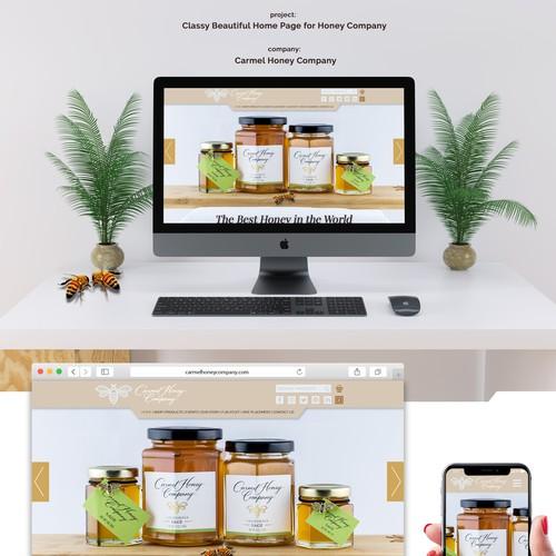 Classy and beautifull homepage design
