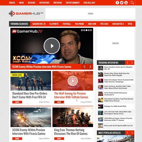 Multimedia website for gamers