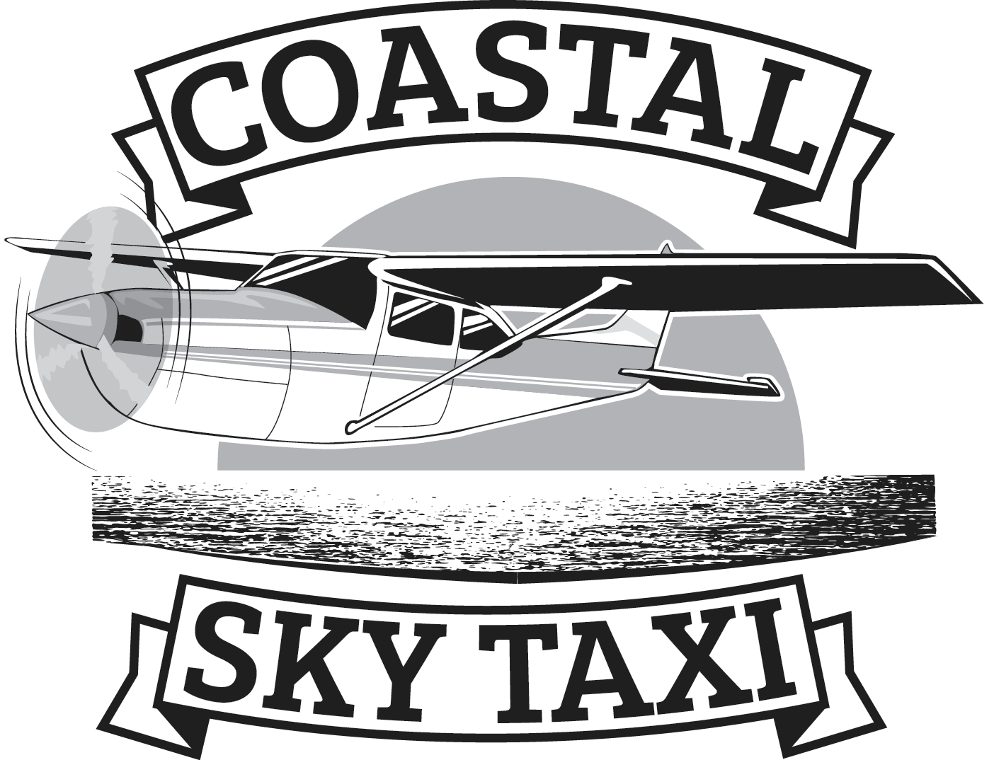 Coastal Sky Taxi is a new air charter company that needs a logo featuring a single engine Cessna!!