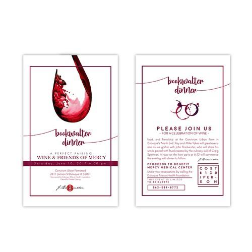 Design an invitation to the prestigious Bookwalter Dinner