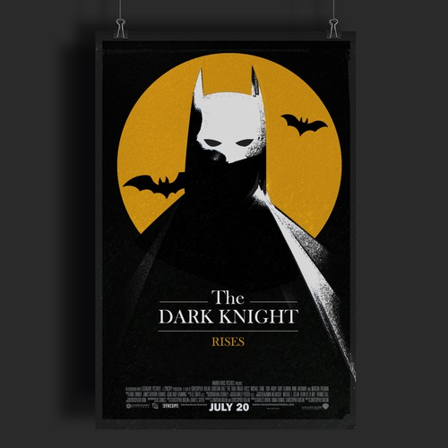 The Dark knight rises - 80s style movie poster
