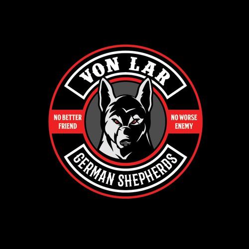 Von LAR German Shepherds bad ass logo