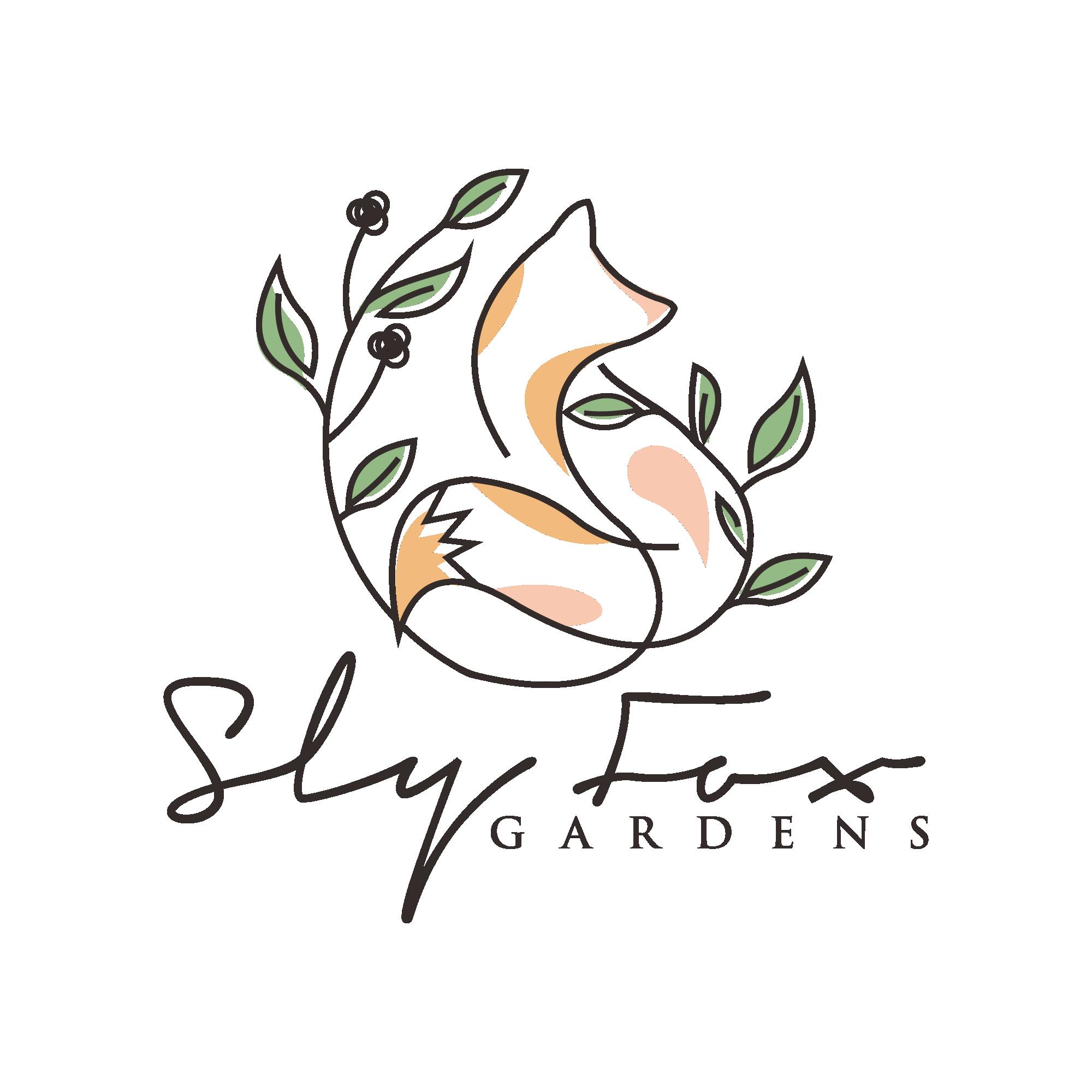 quirky, modern logo for a woman-run ecological gardening/urban farm business