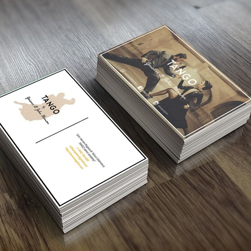 Business card for Argentine Tango Couple