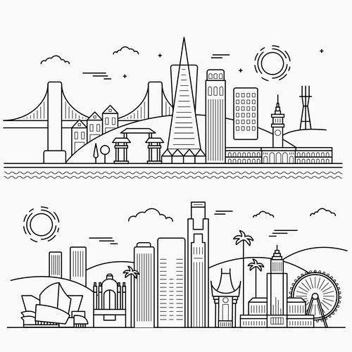 Skyline illustration