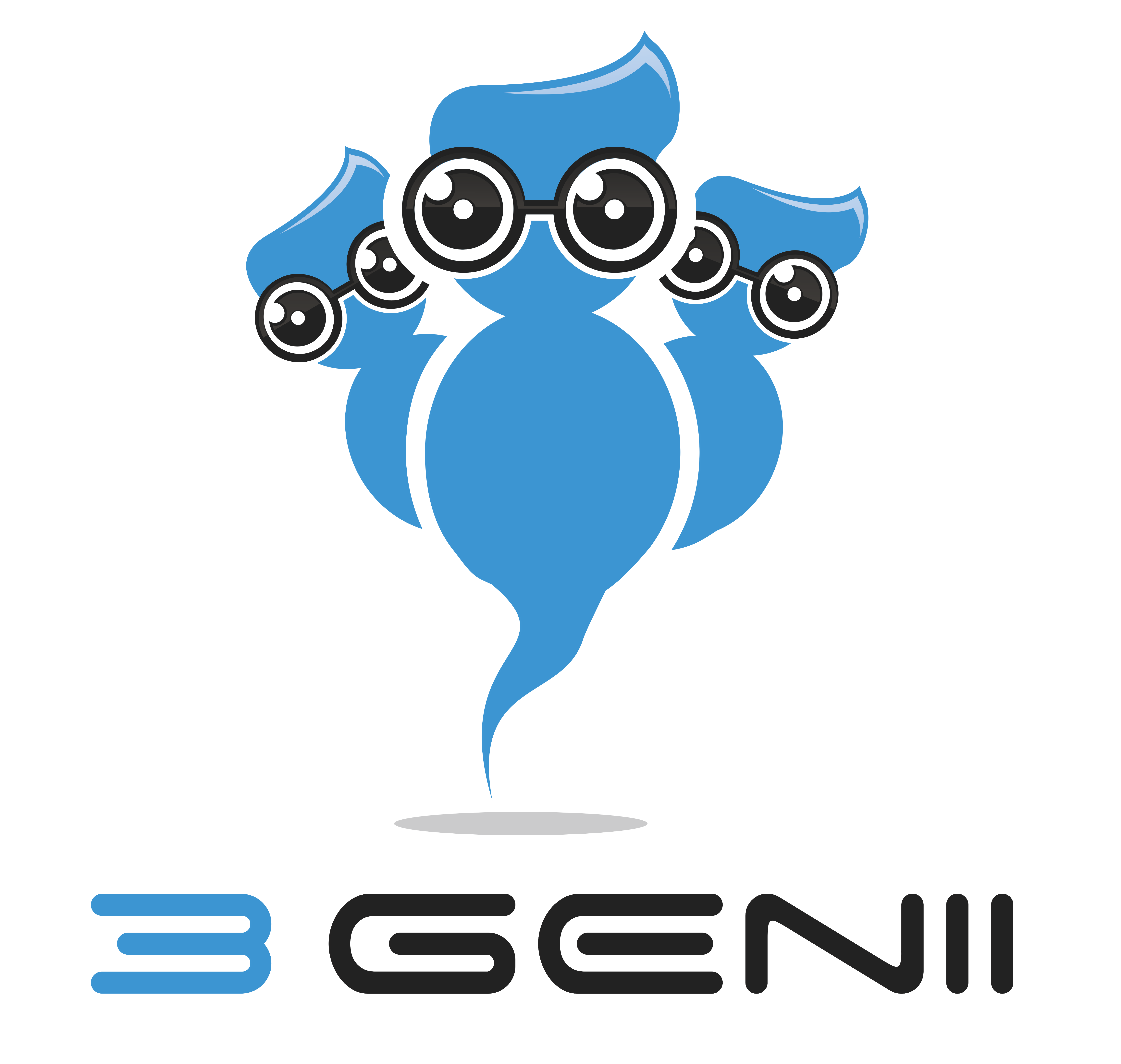 Creating a cool logo for a new startup: 3Genii